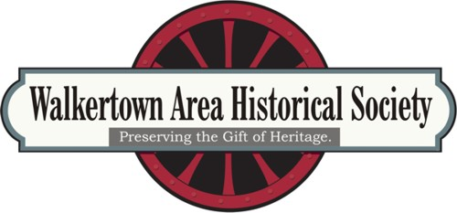 Walkertown Area Historical Society logo, artist Daniel Baird